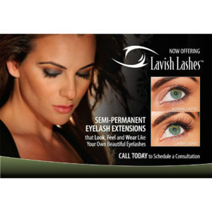 LAVISH LASHES ADVERTISING POSTCARDS