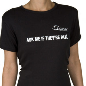 """Lavish Lashes """"Ask Me If They're Real"""" T-Shirt"""